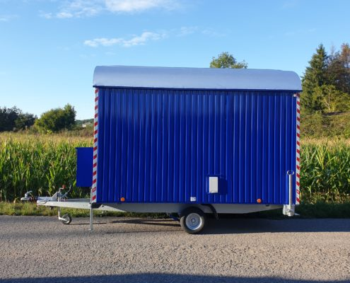 Bauwagen RAL5002 ultramarinblau