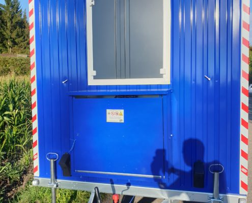 Bauwagengaskasten in Wagenfarbe